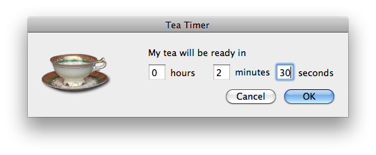how Tea Timer is set up